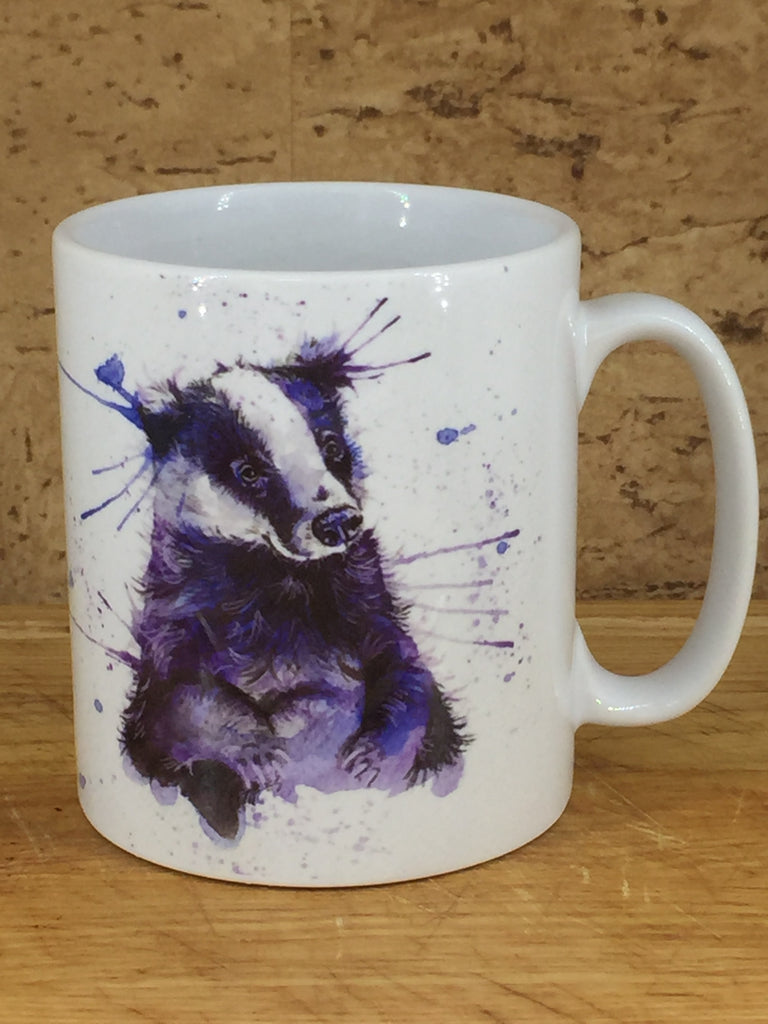 Splatter Badger Mug