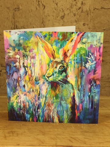 Woodland Hare Greeting Card