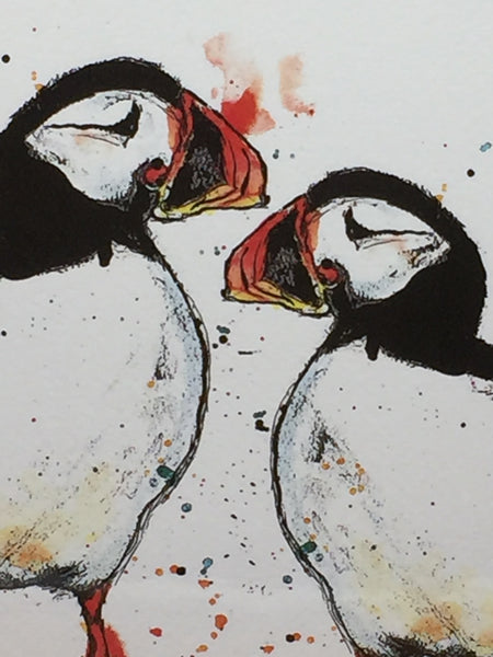 Pair of Puffins Print