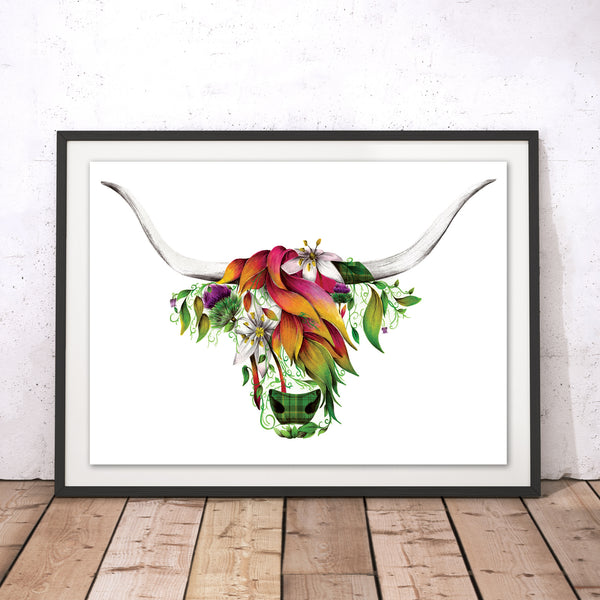 Ivy the Highland Original Print
