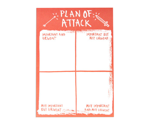 Plan of Attack A5 Desk Pad