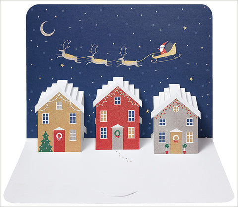 Santa in the Sky Luxury Christmas Cards