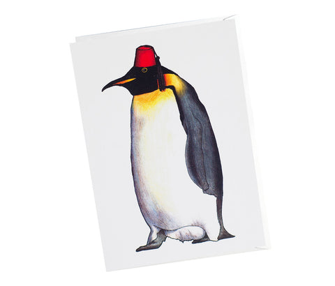 Penguin In A Fez Greeting Card