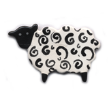 Ceramic Sheep Brooch