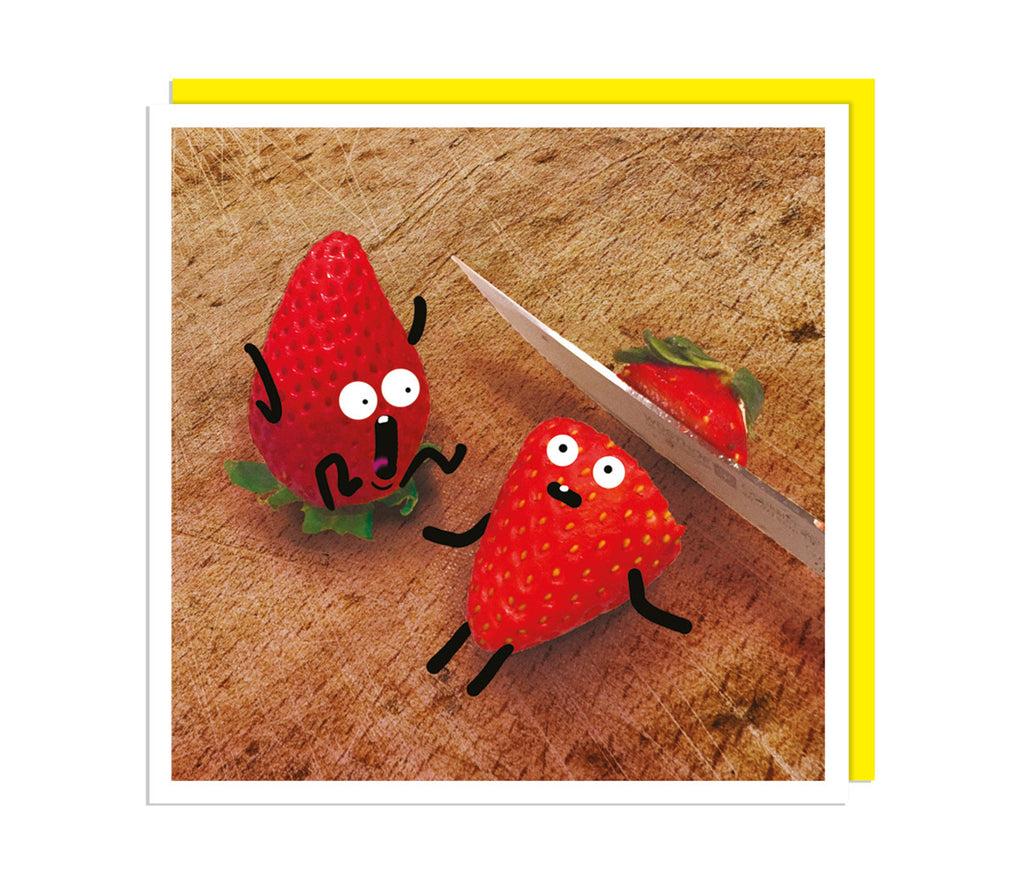 Scared Strawberries Card