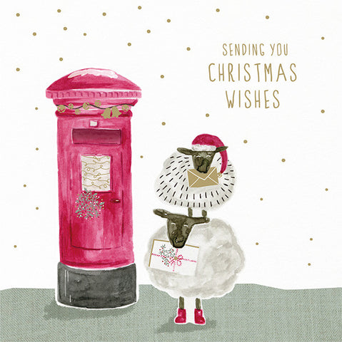 Sheep & Post Box Christmas Cards
