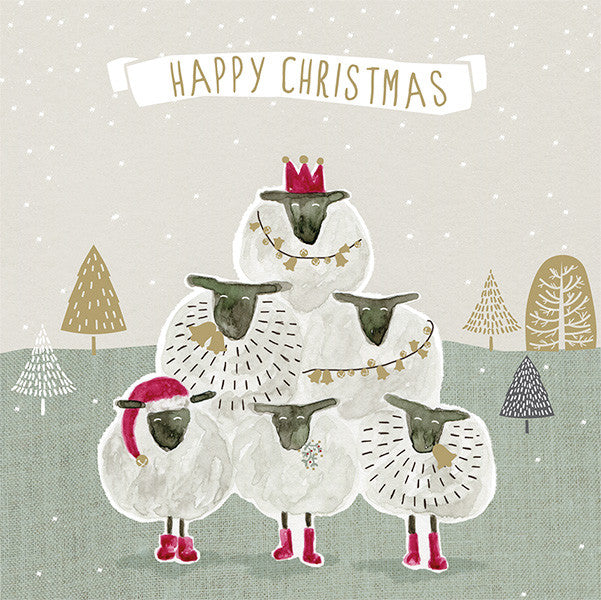 sheep post box christmas cards the clever badger