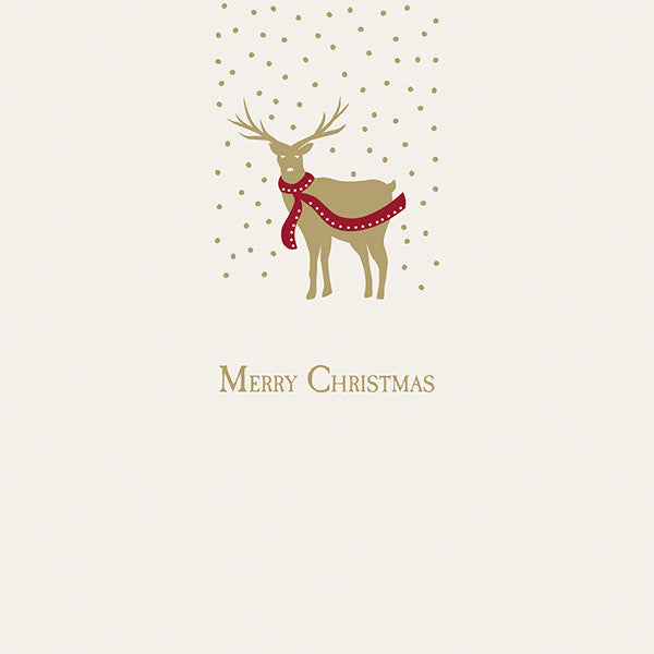 Golden Stag & Fox Christmas Cards