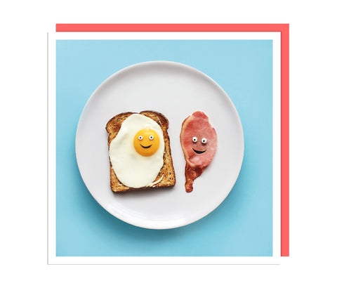Breakfast Food Faces Card