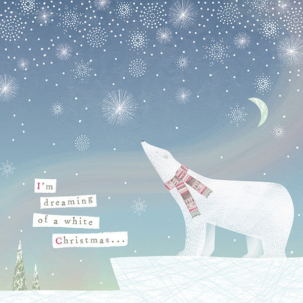Dreamy Polar Bear  Christmas Charity Cards