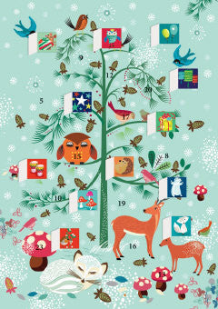 Advent Calendar Christmas Card - Winter Critters