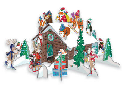 Pop & Slot Advent Calendar - Snow Chalet