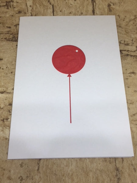 Foil Blocked Red Balloon Card