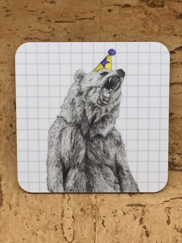 Party Bear Coaster