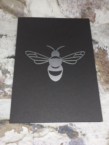 Foil Blocked Bee Card