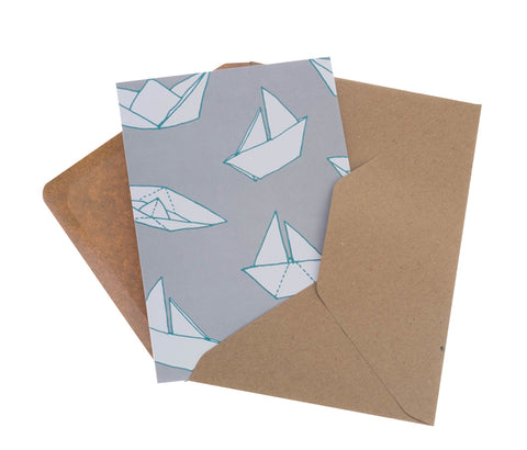 Origami Boats Greeting Card