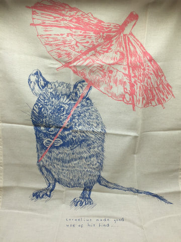 Cornelius Mouse Tea Towel