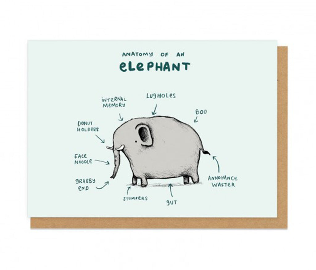 Elephant Anatomy Greeting Card