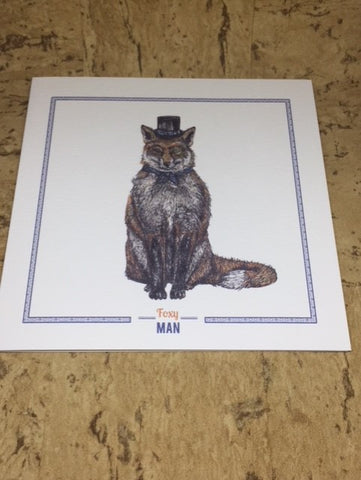 Foxy Man Greeting Card