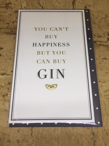'Happiness & Gin' Greeting Card