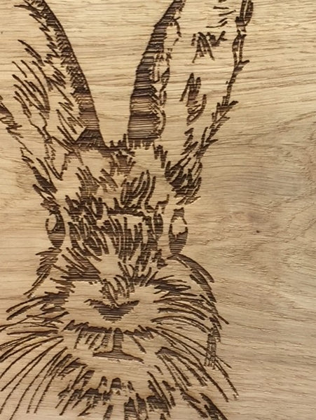 Hare Oak Serving Board