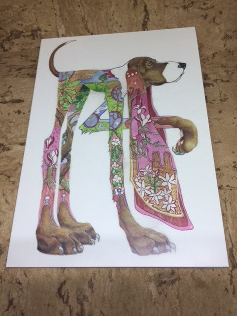 Hound Greeting Card