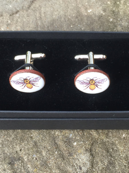 Ceramic Bee Cufflinks