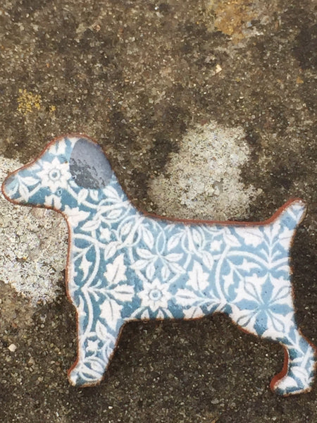 Ceramic Dog Brooch