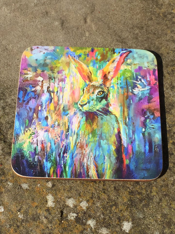 Woodland Hare Coaster