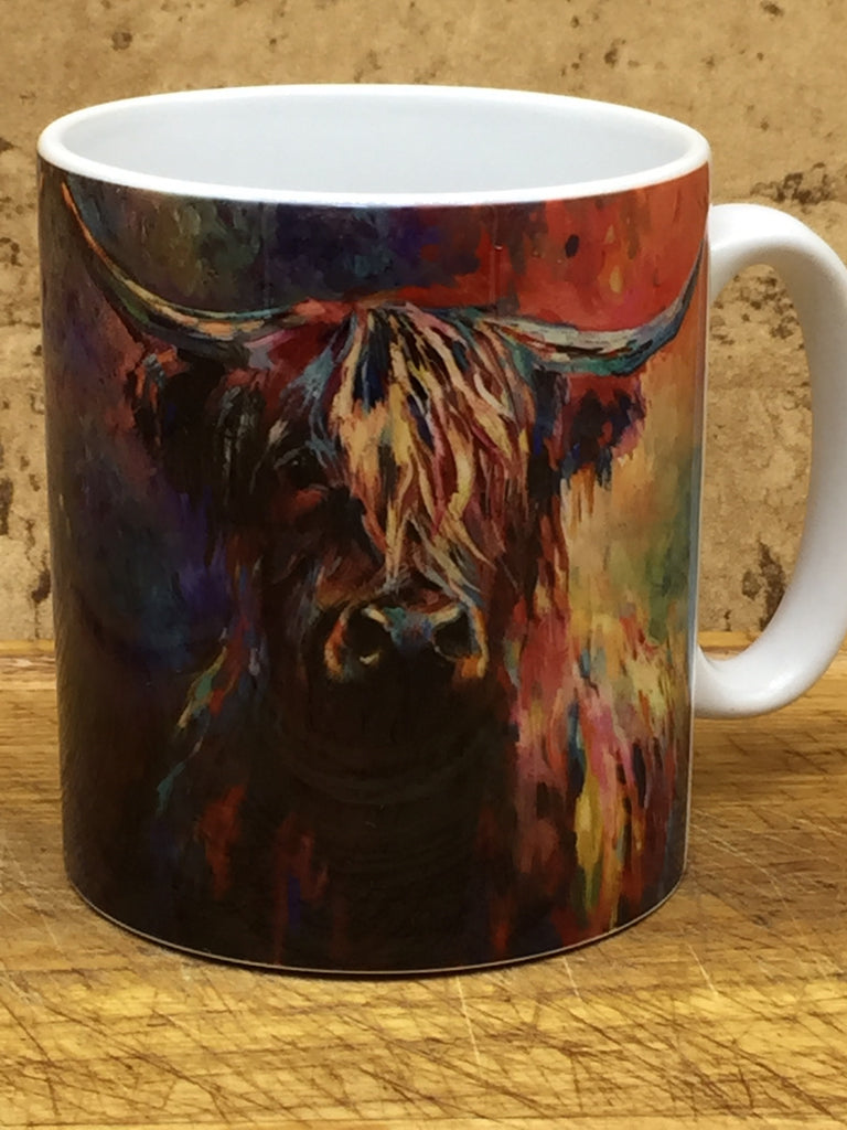 Colourful Highland Cow Mug