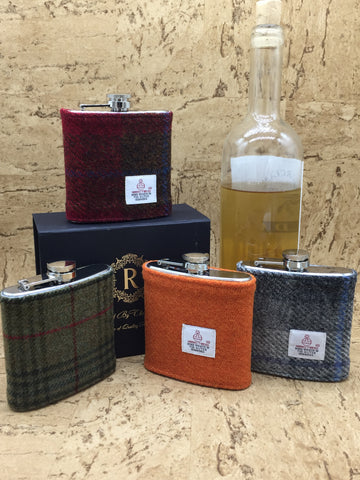 6oz Tweed Hip Flask