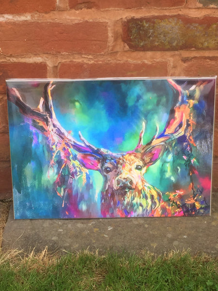A3 Woodland Stag Print