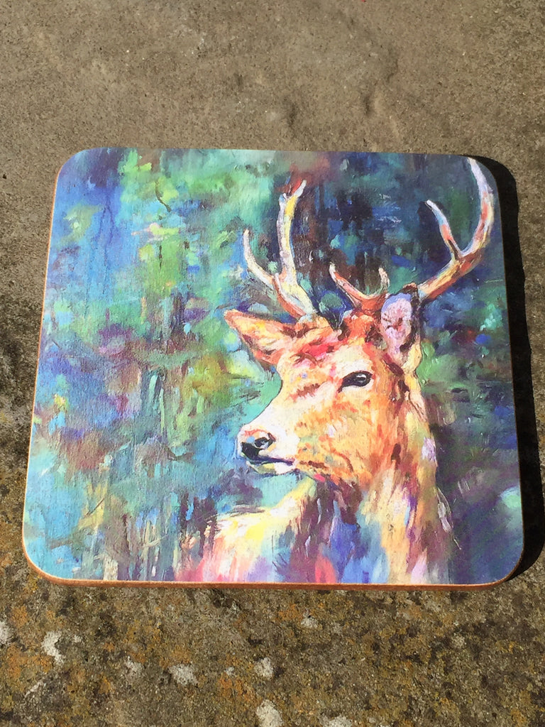 Watcher in the Wood Stag Coaster