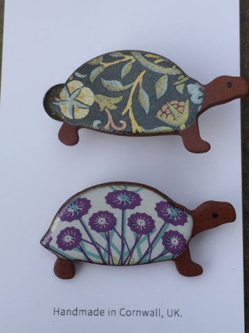Ceramic Turtle Brooch