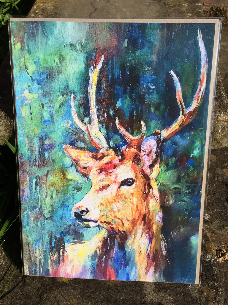 Watcher in the Wood Stag Print