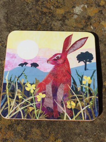Sunrise Hare Coaster
