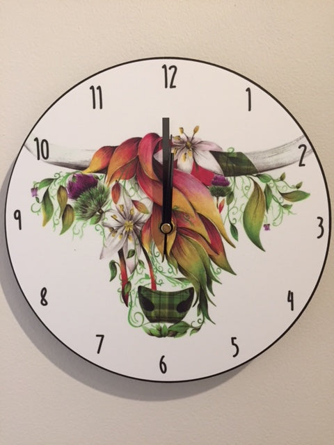 Ivy the Highland Wall Clock
