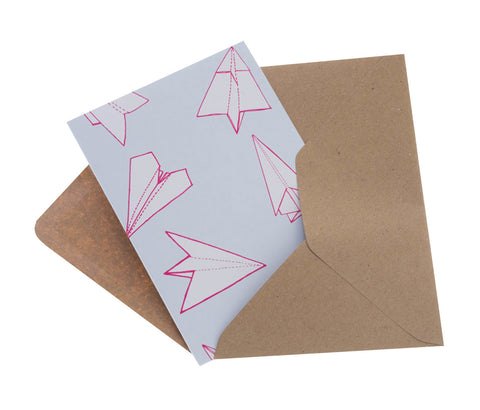 Origami Planes Greeting Card