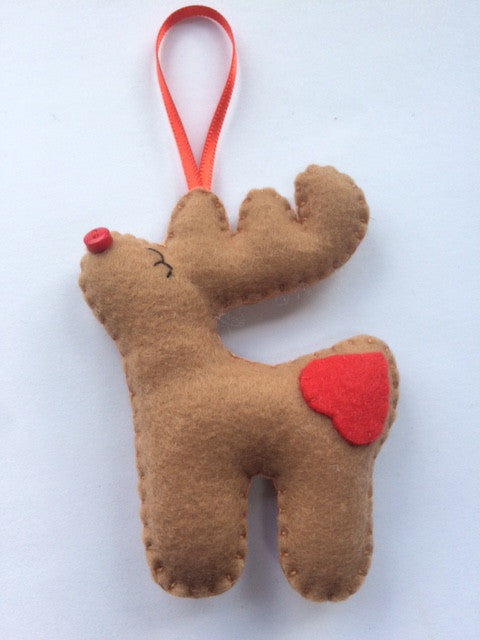 Felt Little Reindeer Christmas Decoration