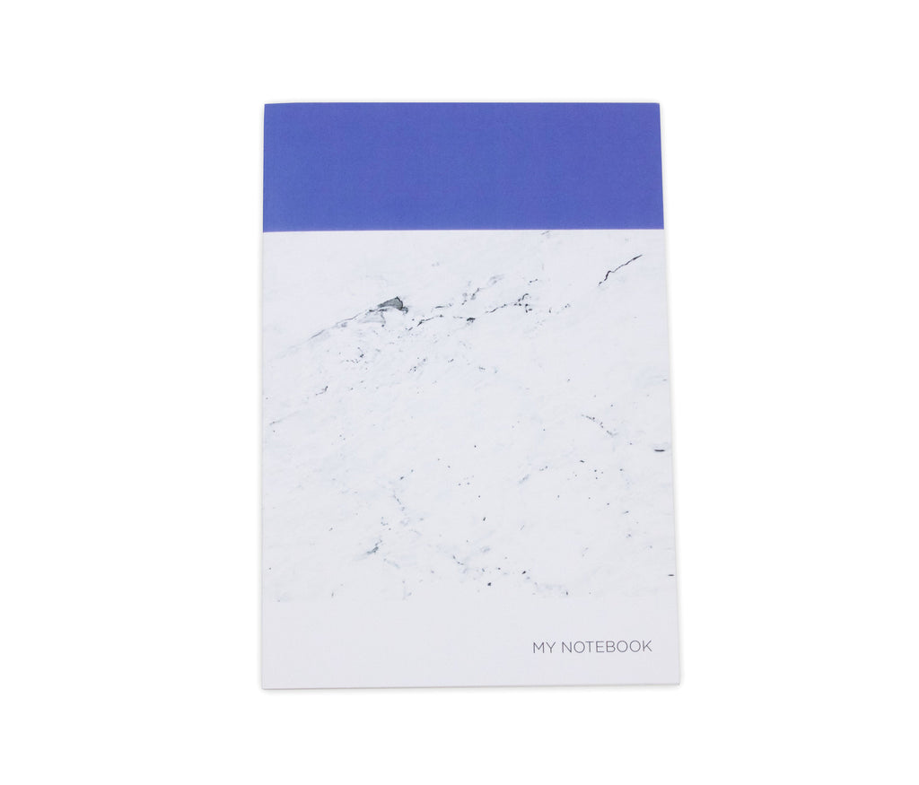 Blue Marbled A5 Notebook