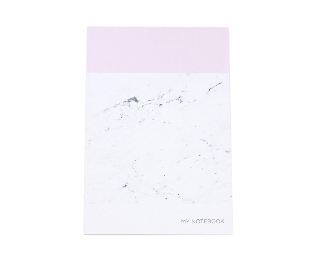 Pink Marbled A5 Notebook