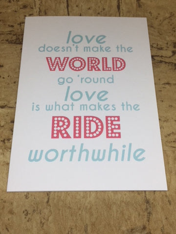 """Love Makes...."" Greeting Card"
