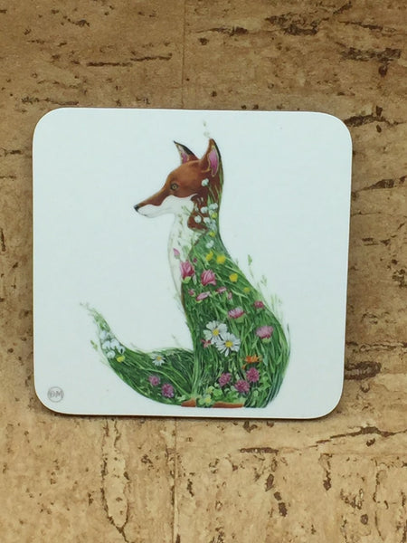 Set of 4 Meadow Themed Coasters