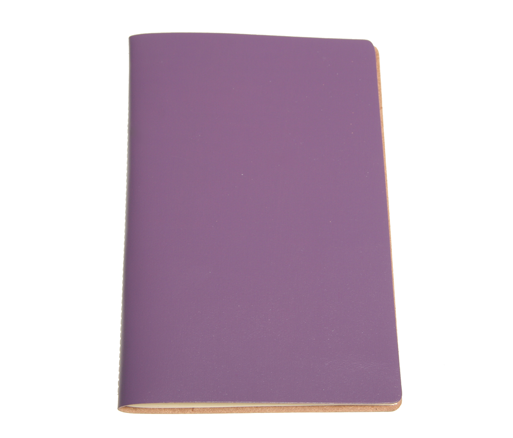 Aubergine Leather A5 Notebook