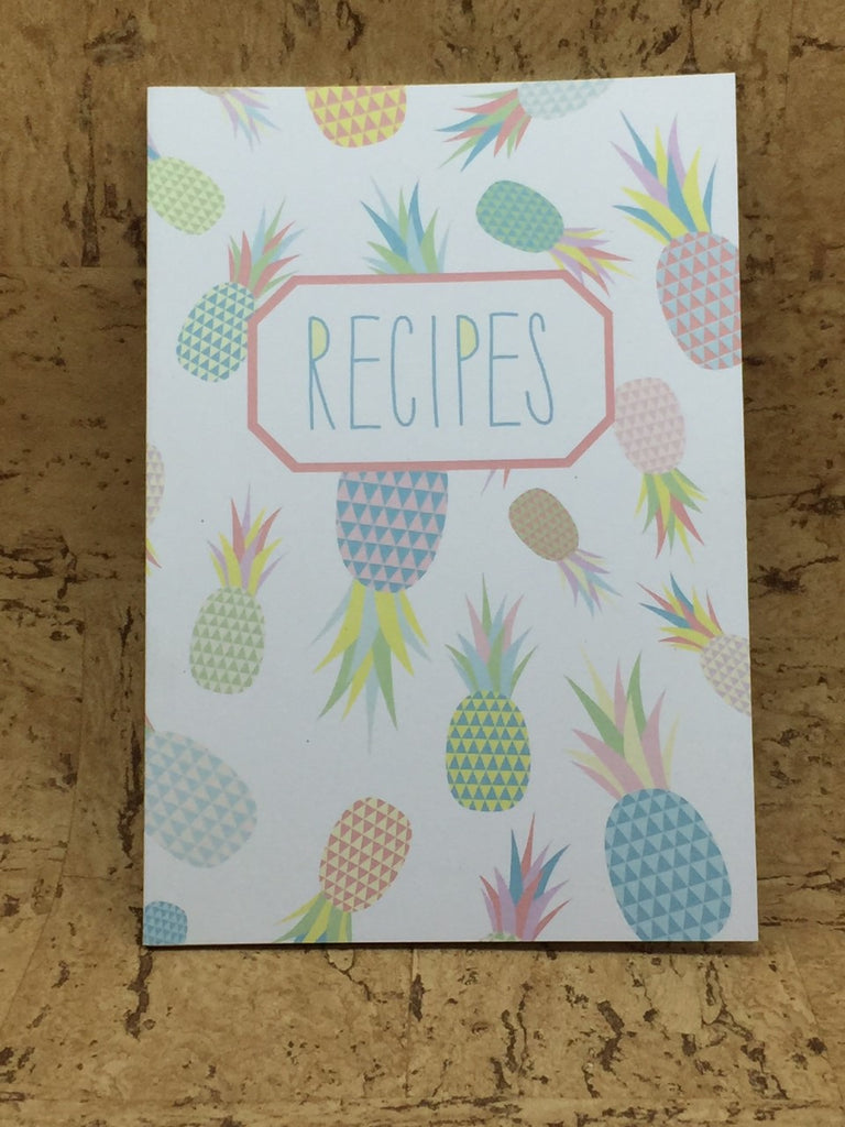 Pineapple A5 Recipe Book