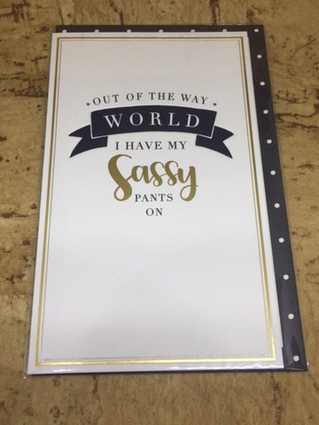 'Out of the Way World' Greeting Card