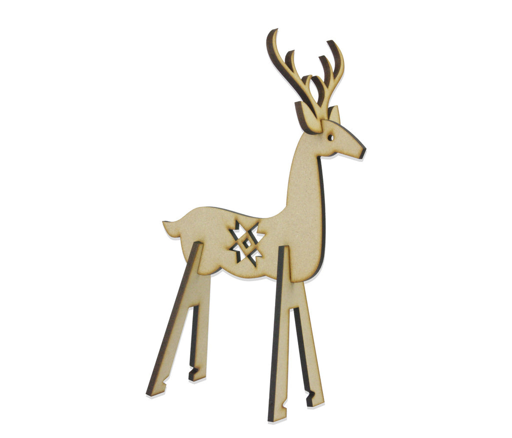 Contemporary Christmas Deer Decoration