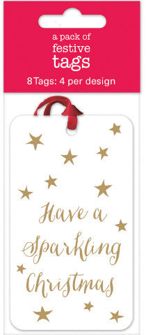 Sparkling Christmas Gift Tags Pack