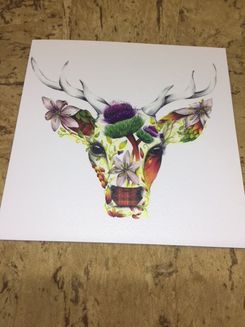 Stirling The Stag Greeting Card