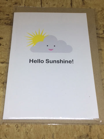 'Hello Sunshine' Greeting Card